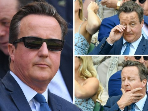 David Cameron takes it easy at Wimbledon while May battles over Brexit