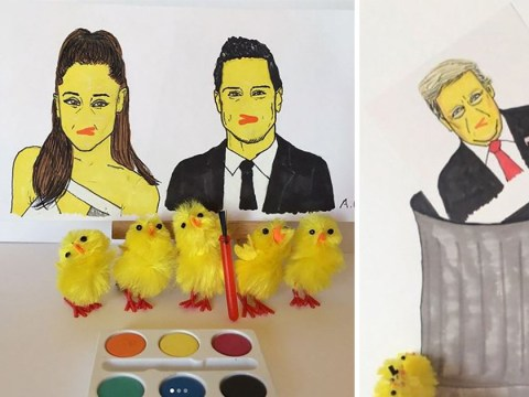 These artistic chicks paint pictures of celebrities as…chicks