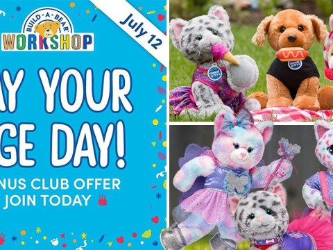 Gather the little ones, Build-A-Bear is offering a 'Pay Your Age' offer on toys