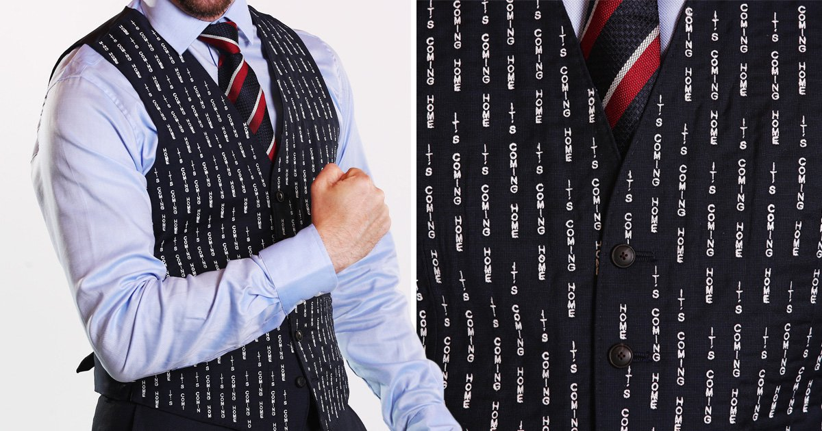 Become a Gareth Southgate lookalike with the 'It's Coming Home' waistcoat
