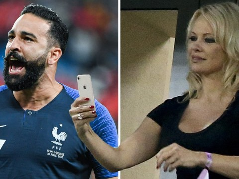 Bae-watch: Pamela Anderson blows kisses to boyfriend Adil Rami as France win World Cup match