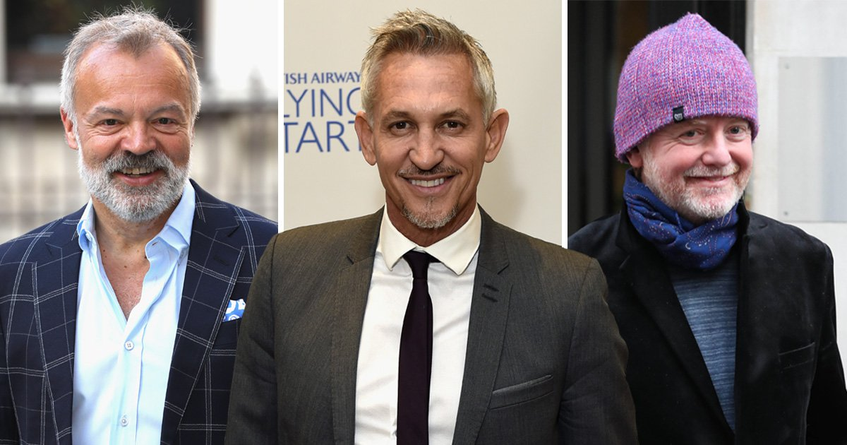 BBC reveal highest-paid stars and their salaries – and they're all white men