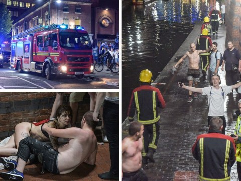 Fans in Birmingham jump in canals, fight and climb lampposts after England defeat