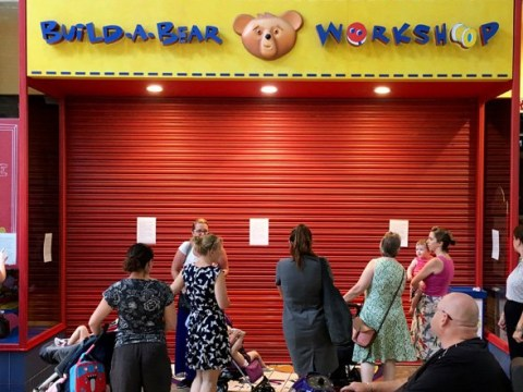 Chaos as thousands queue for hours to 'pay your age' for a Build-a-Bear toy