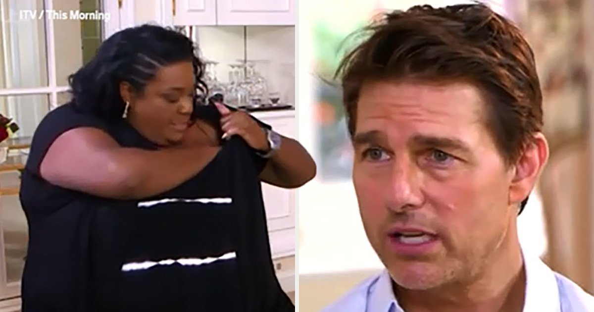 Alison Hammond finds extra use for her bra as she gets flustered by Tom Cruise