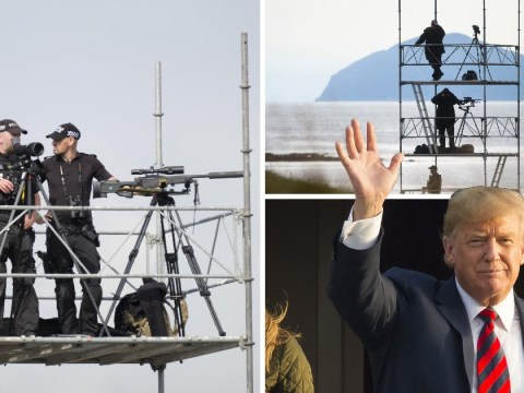 High security in Scotland as Donald Trump says he is looking forward to some golf