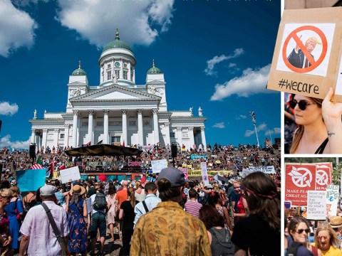 It's déjà vu for Donald as Finnish protesters assemble for his visit