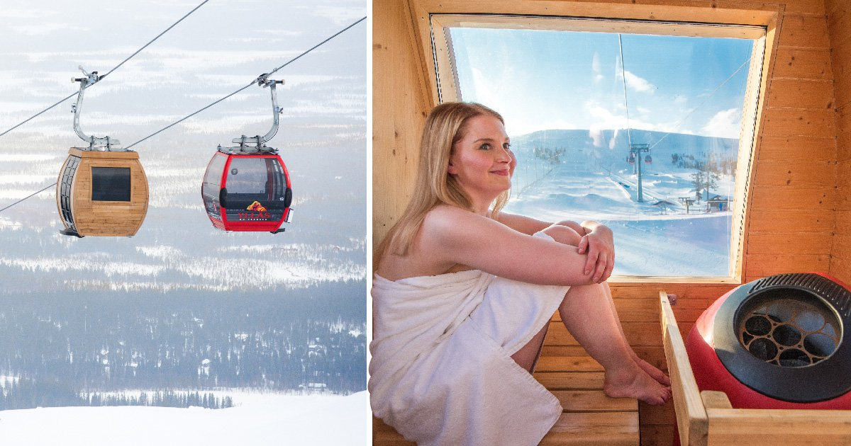 Fancy enjoying a sauna session in a cable car up in the air?