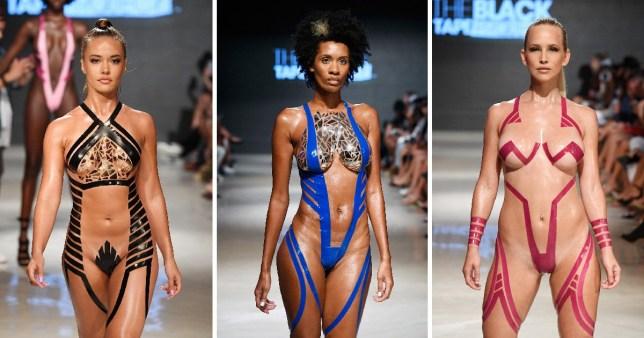 c0a9b2b87c6c7 Don't bother getting a new bikini, the next big swimwear trend is wearing  tape