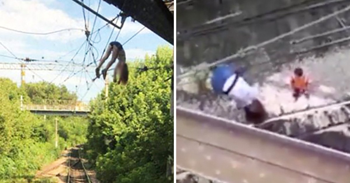 Girl survives falling onto 3,000-volt cable after taking selfie while dangling over bridge