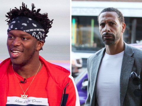 KSI challenges Rio Ferdinand to boxing match as Logan Paul stormed out of press conference