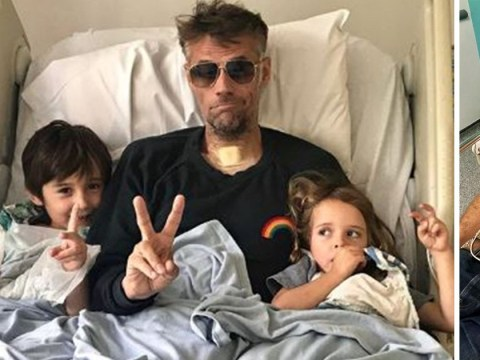 Richard Bacon finally reunites with children after 'nearly dying' before pulling through coma