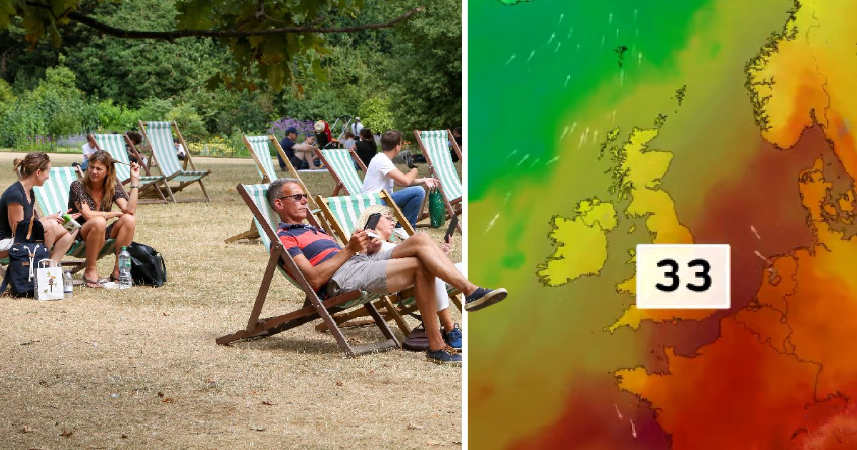 Heatwave could be about to get even hotter with 33°C forecast next week