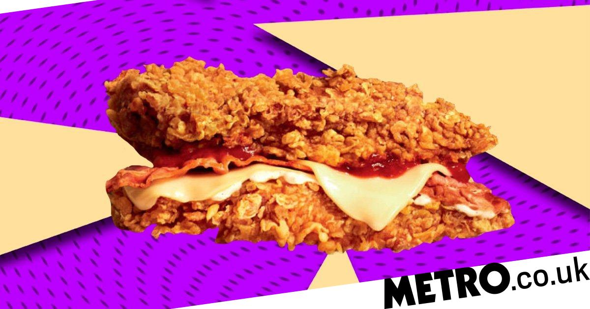 KFC is launching a Zinger Double Down burger this week   Metro News