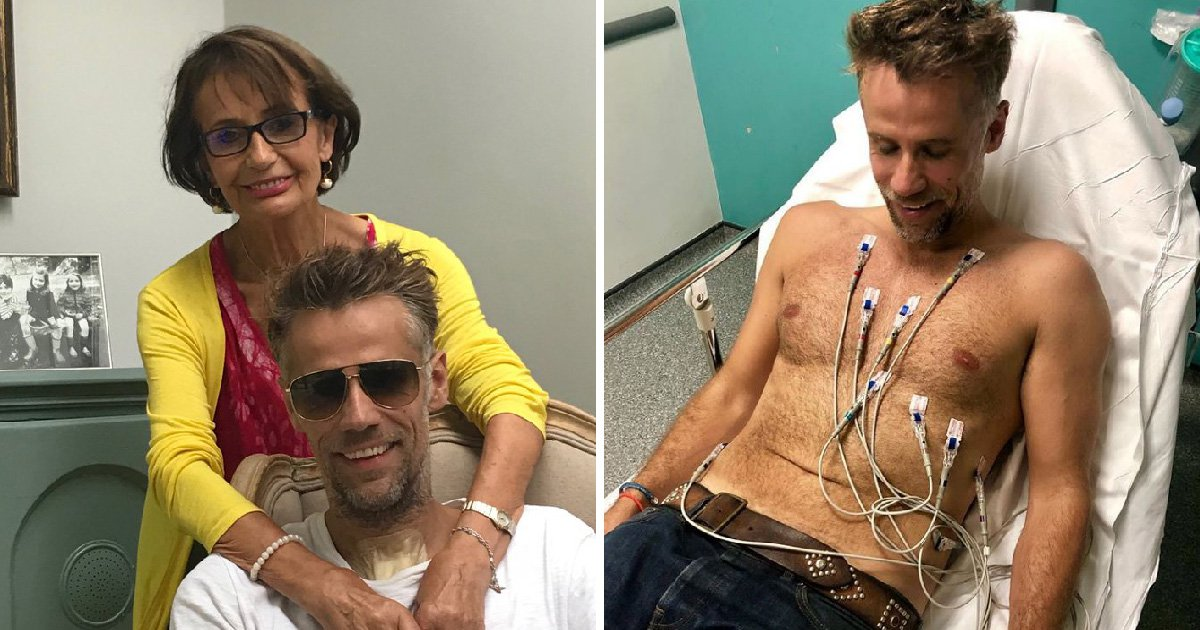 Richard Bacon's mother shares happy snap of the presenter at home following coma ordeal