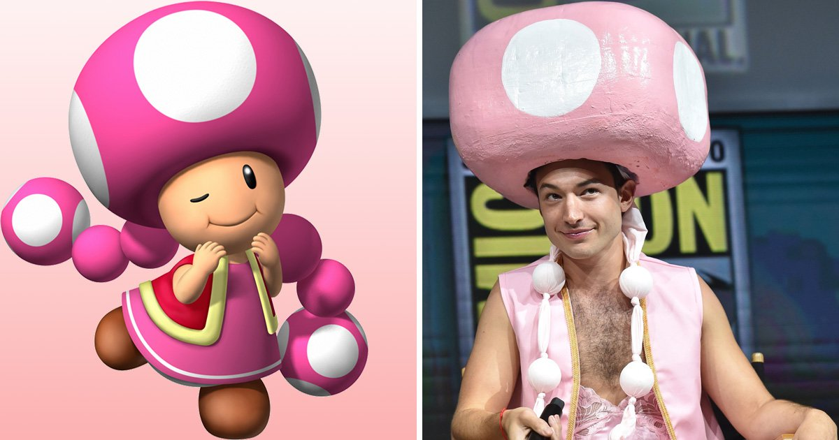 Ezra Miller turned up as Toadette to Comic-Con