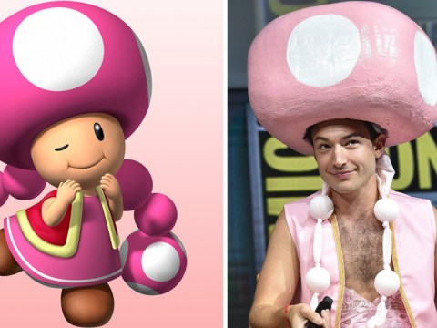 Ezra Miller wins Comic-Con after turning up dressed as Toadette