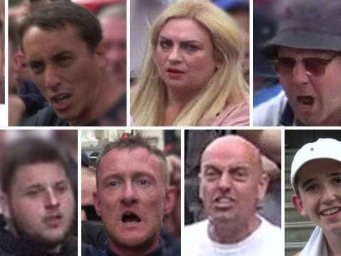Nine people wanted by police following violence at Tommy Robinson rally