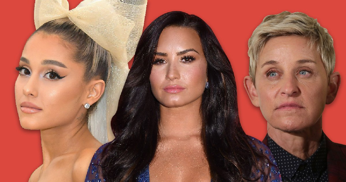 Lily Allen, Ellen DeGeneres and Ariana Grande lead celebrity well-wishers as Demi Lovato is 'rushed to hospital'