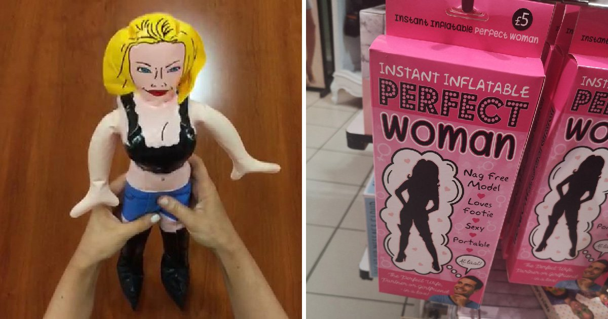 Shoppers slam Peacocks for selling inflatable 'perfect woman' that doesn't 'nag'