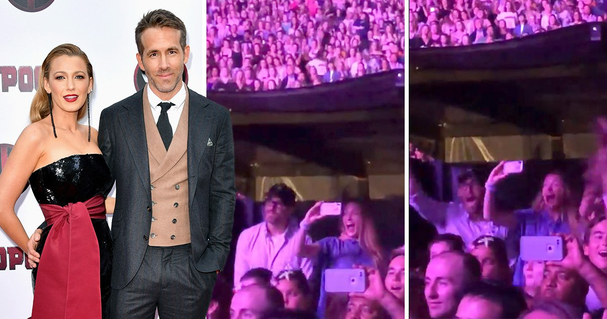 Ryan Reynolds and Blake Lively go crazy at Taylor Swift gig as daughter's voice is played during Gorgeous