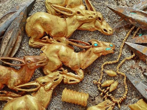 Incredible haul of gold from 2,800 years ago unearthed in Kazakhstan