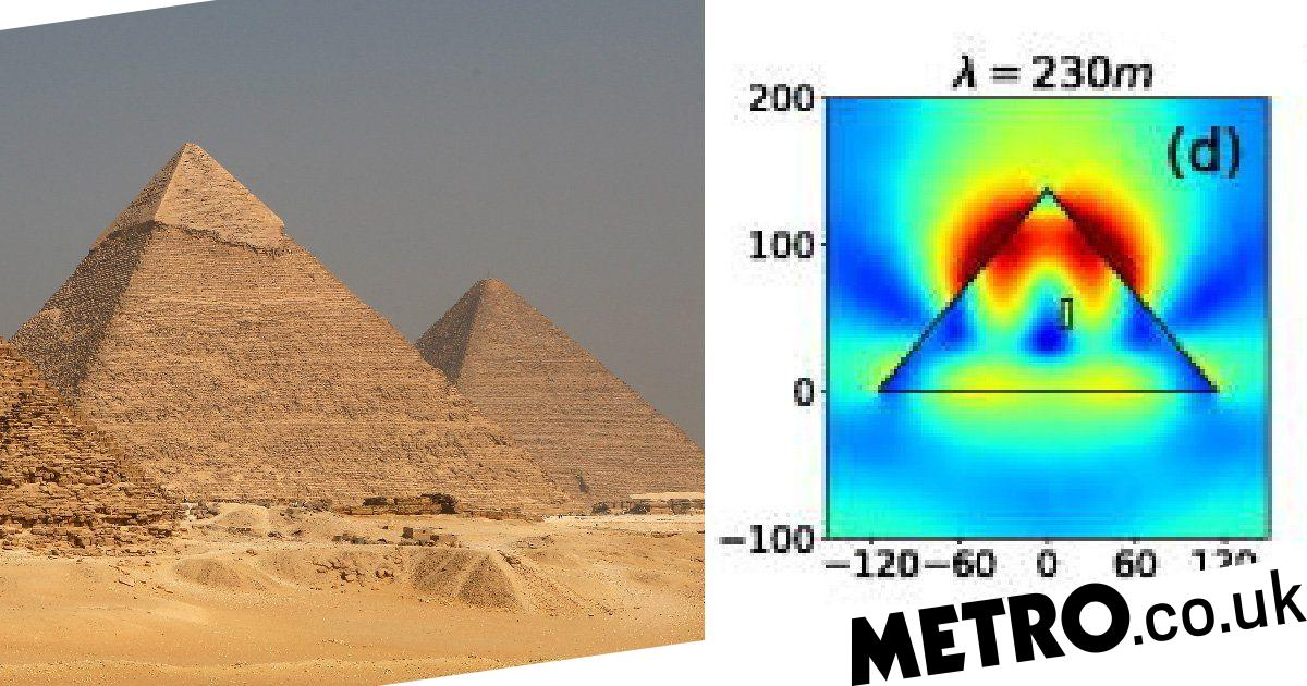 The Great Pyramid of Giza can focus electromagnetic energy