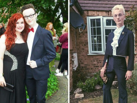 Queer artist gloriously reclaims the suit he wore for an uncomfortable prom experience