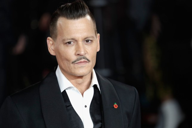 LONDON, ENGLAND - NOVEMBER 02: Johnny Depp attends the 'Murder On The Orient Express' World Premiere at Royal Albert Hall on November 2, 2017 in London, England. (Photo by John Phillips/Getty Images)