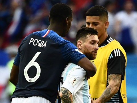 Paul Pogba pays tribute to Lionel Messi after consoling Argentina captain on the pitch