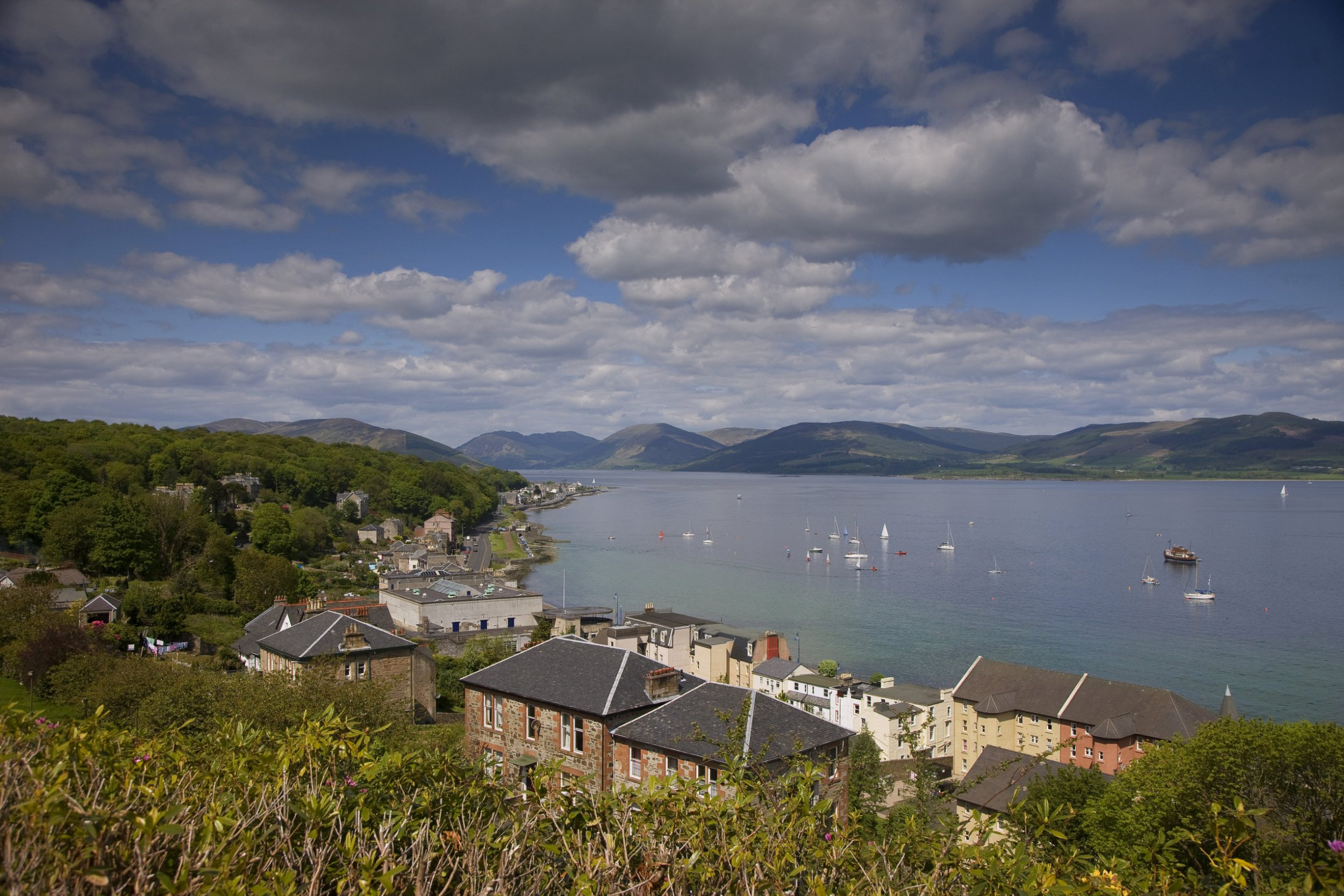 View looking east from Rothesay, Isle of Bute, Scotland, United Kingdom. (Photo by: UIG via Getty Images)