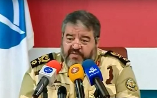 Brigadier General Gholam Reza Jalali, head of Iran's Civil Defence Organisation (Picture: YouTube)