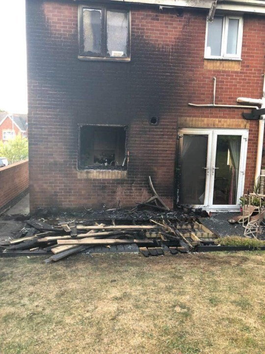 METRO GRAB - taken from @StaffsFire Twitter no permission House fire sparked by sunlight reflecting off glass table. Twitter/StaffsFire
