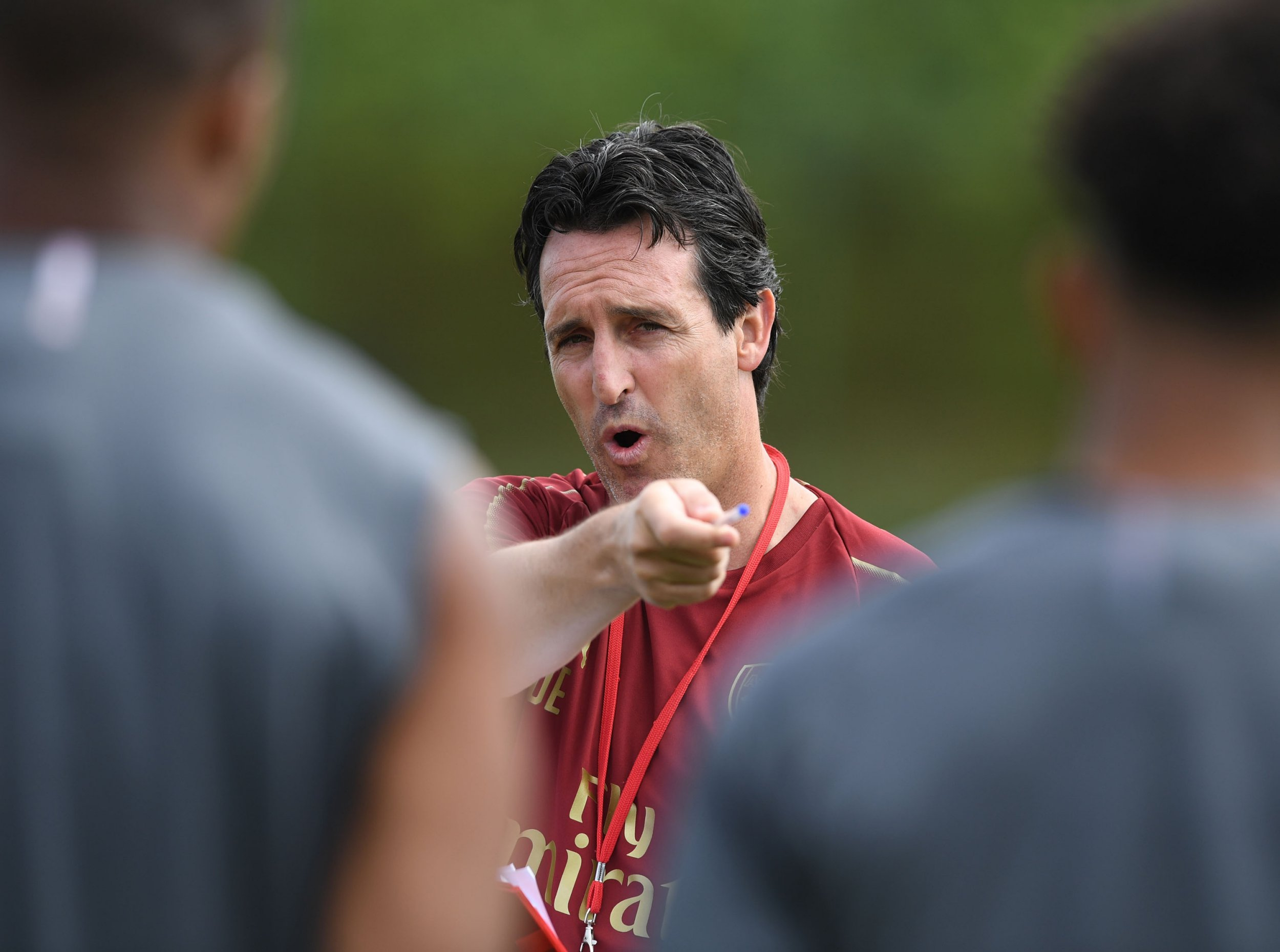 ST ALBANS, ENGLAND - JULY 04: Arsenal Head Coach Unai Emery during a training session at London Colney on July 4, 2018 in St Albans, England. (Photo by Stuart MacFarlane/Arsenal FC via Getty Images)