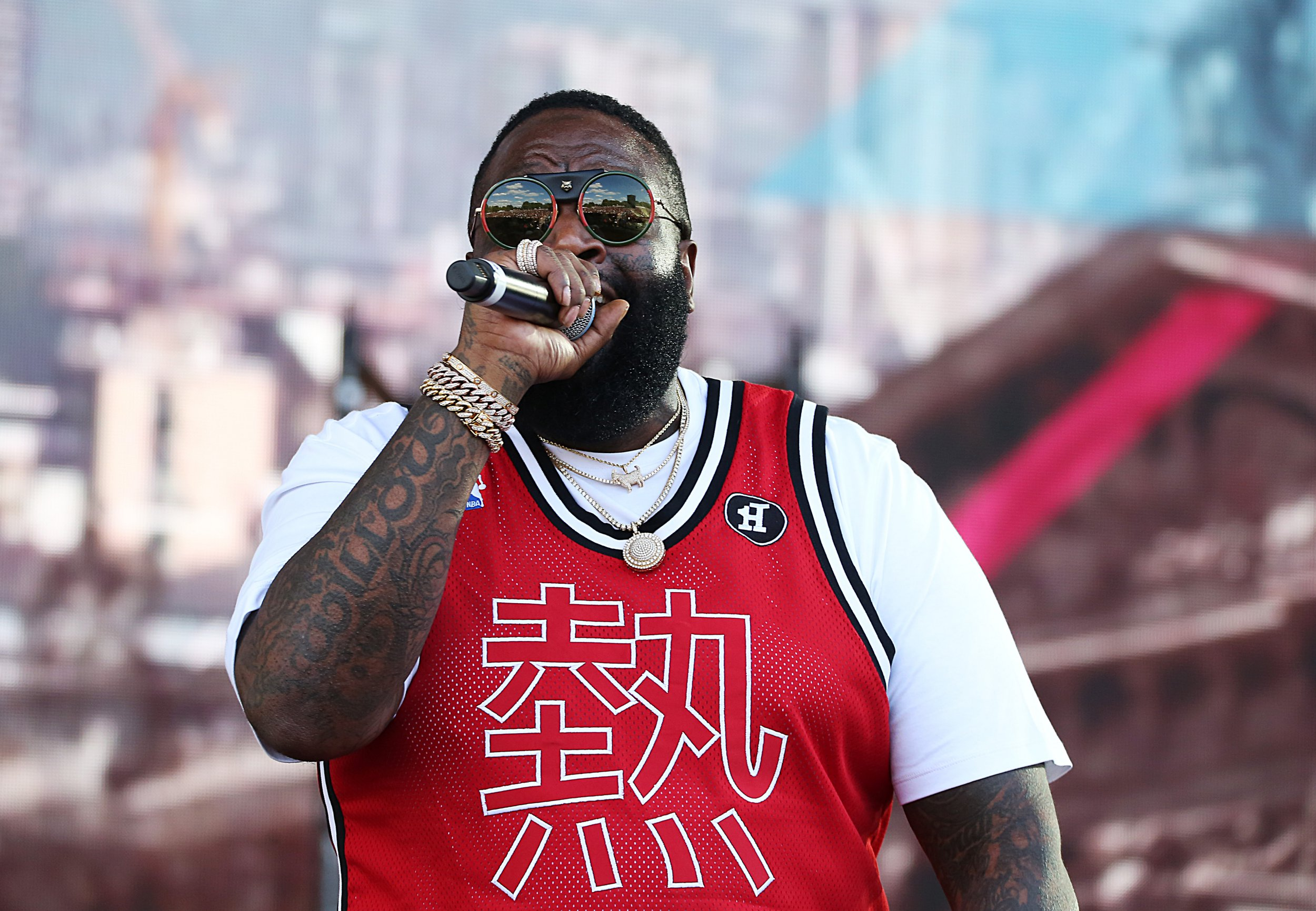 Rick Ross performing at Wireless Festival 2018, Finsbury Park, London UK, 08 July 2018, Photo by Brett D. Cove Pictured: Rick Ross,William Leonard Roberts II Ref: SPL5008822 080718 NON-EXCLUSIVE Picture by: Brett D. Cove / SplashNews.com Splash News and Pictures Los Angeles: 310-821-2666 New York: 212-619-2666 London: 0207 644 7656 Milan: +39 02 4399 8577 Sydney: +61 02 9240 7700 photodesk@splashnews.com World Rights,