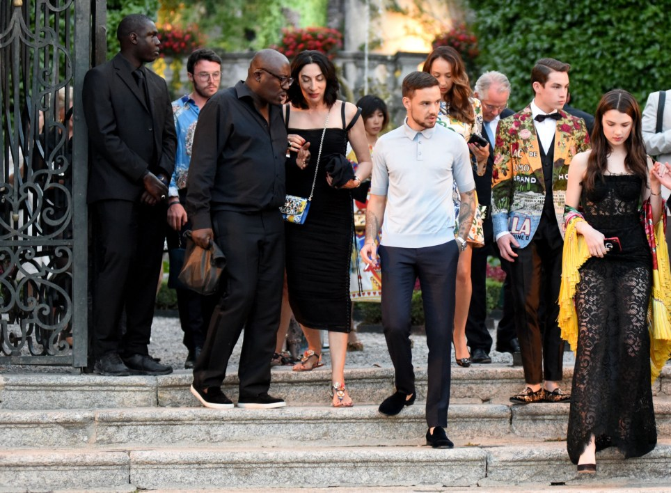 "EXCLUSIVE: **NO WEB UNTIL 1PM BST 9TH JULY** Singer Liam Payne was spotted this afternoon in Lake Como at Dolce and gabbana fashion event in Tremezzo Villa Carlotta, then reached the gala dinner in Villa Olmo with the steamer boat ""Milano"". He was with a beautiful girl but had eyes for more than one. He just broke up with Cheryl Cole. 07 Jul 2018 Pictured: Liam Payne. Photo credit: MEGA TheMegaAgency.com +1 888 505 6342"
