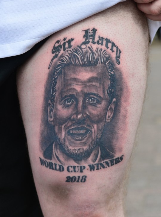 "Teddy Allen of Biddulph has gone and got himself a new tattoo to celebrate England winning The World Cup next weekend. The Tattoo is by Bradley Fleming of Pedantic Ink in Fenton, and is a portrait of Harry Kane which reads ""Sir Harry, World Cup Winners 2018 Pictured: Teddy Allen's new tattoo"