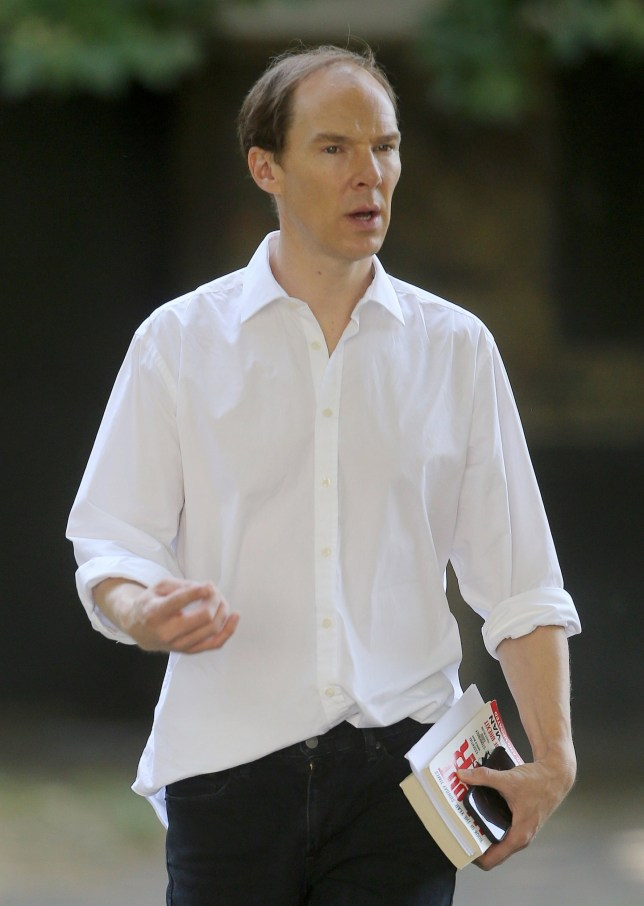 EXCLUSIVE: * Min Paper Print Fee 350 GBP * * MIn Web / Online Fee 250 GBP For Set * * Min Mag Fee 250 GBP PP * Double For Cover * First pictures of Benedict Cumberbatch playing Brexit instigator Dominic Cummings in London, UK. He was spotted this morning in a North London park with co star Liz White who plays his wife Mary Wakefield in the upcoming Channel 4 production 'BREXIT'. Pictured: Benedict Cumberbatch Ref: SPL5008460 060718 EXCLUSIVE Picture by: SplashNews.com * Min Paper Print Fee 350 GBP * * MIn Web / Online Fee 250 GBP For Set * * Min Mag Fee 250 GBP PP * Double For Cover * Splash News and Pictures Los Angeles: 310-821-2666 New York: 212-619-2666 London: 0207 644 7656 Milan: +39 02 4399 8577 Sydney: +61 02 9240 7700 photodesk@splashnews.com World Rights