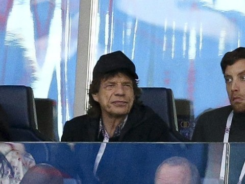 Football mad Mick Jagger takes sons to World Cup semi-finals