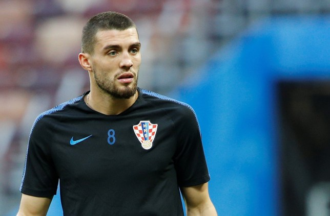 MOSCOW, RUSSIA - JULY 10: Mateo Kovacic of Croatia attends a training session ahead of the 2018 FIFA World Cup Russia semi final match between Croatia and England at the Luzhniki Stadium in Moscow, Russia on July 10, 2018. (Photo by Sefa Karacan/Anadolu Agency/Getty Images)