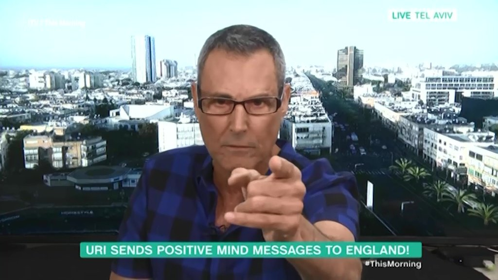 Uri Geller reveals how England will beat Croatia with his bizarre mantra Picture: ITV/This Morning METROGRAB