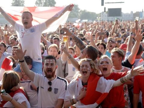 England goes wild as Kieran Trippier opens the scoring in World Cup semi final