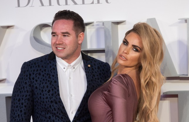 """LONDON, ENGLAND - FEBRUARY 09: Katie Price and Kieran Hayler attend the """"Fifty Shades Darker"""" - UK Premiere on February 9, 2017 in London, United Kingdom. (Photo by Samir Hussein/WireImage)"""