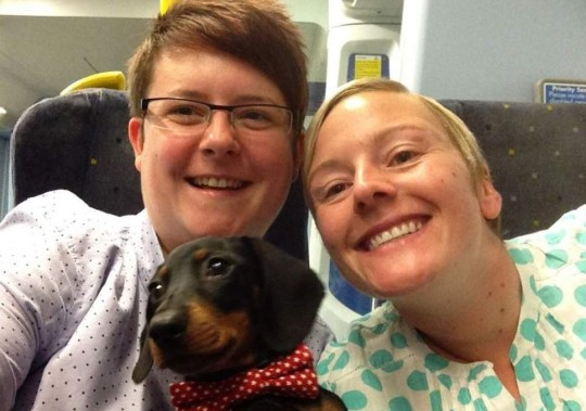 'Our dachshund was mauled by vicious dog as we sat on Tube' Taken with permission Credit: Laurie and Nicki Roberts-Downie