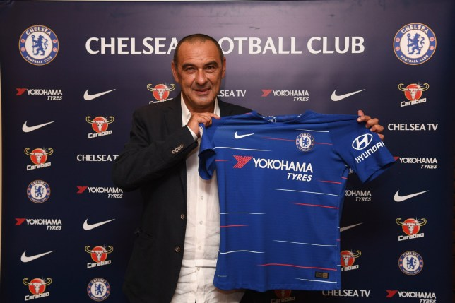 LONDON, ENGLAND - JULY 14: Chelsea Unveil New Head Coach Maurizio Sarri at Stamford Bridge on July 14, 2018 in London, England. (Photo by Darren Walsh/Chelsea FC via Getty Images)