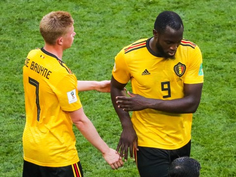 Manchester City troll Romelu Lukaku during Belgium's victory over England