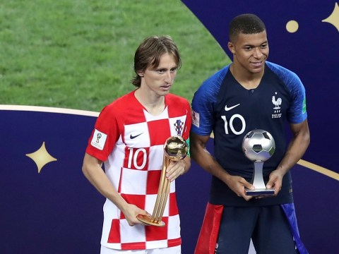 Luka Modric wins World Cup Golden Ball as Kylian Mbappe named best young player