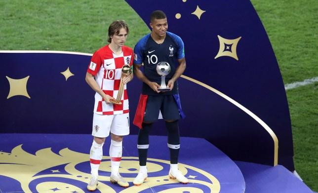 more photos 513b9 5105d Luka Modric wins World Cup Golden Ball as Kylian Mbappe ...