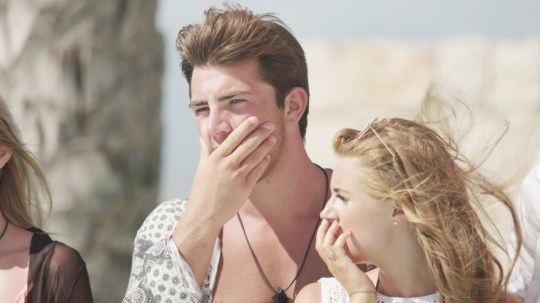 From ITV Studios Love Island: SR4: Ep43 on ITV2 Pictured: Dani and Jack are shocked. This photograph is (C) ITV Plc and can only be reproduced for editorial purposes directly in connection with the programme or event mentioned above, or ITV plc. Once made available by ITV plc Picture Desk, this photograph can be reproduced once only up until the transmission [TX] date and no reproduction fee will be charged. Any subsequent usage may incur a fee. This photograph must not be manipulated [excluding basic cropping] in a manner which alters the visual appearance of the person photographed deemed detrimental or inappropriate by ITV plc Picture Desk. This photograph must not be syndicated to any other company, publication or website, or permanently archived, without the express written permission of ITV Plc Picture Desk. Full Terms and conditions are available on the website www.itvpictures.co.uk For further information please contact: james.hilder@itv.com / 0207 157 3052