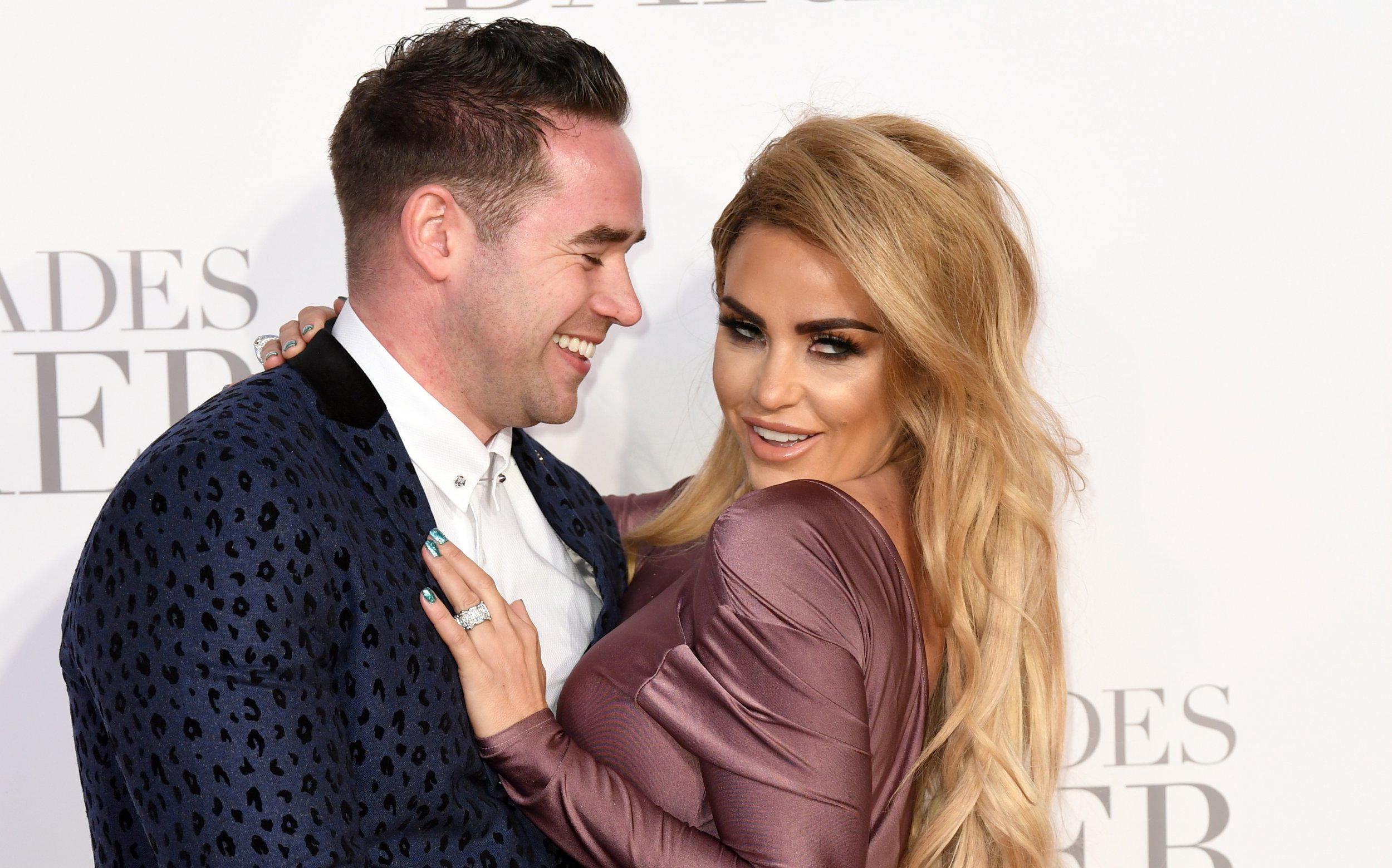 Katie Price and Kieran Hayler arriving for the Fifty Shades Darker European Premiere held at Odeon Leicester Square, London. Picture date: Thursday February 9, 2017. Photo credit should read: Doug Peters/ EMPICS Entertainment